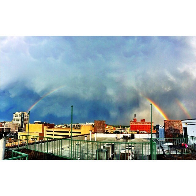 #Rainbow over #Memphis #bbqdest #ilovememphis