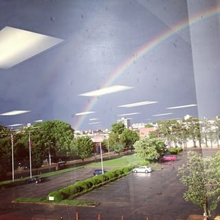 Memphis rainbow, from 3rd floor, 495 Union http://t.co/bMfcMIvJC2