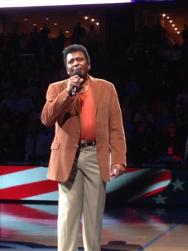 Legendary Country singer Charley Pride sings the National Anthem on MLK Day. @actionnews5 http://t.co/ImeYPGvmxO