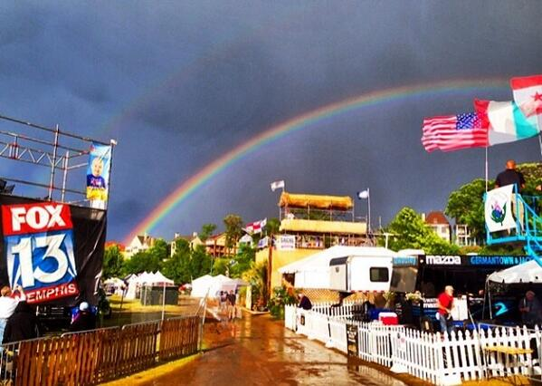Amazing BBQFest double rainbow courtesy of FOX13's @Memphis_Nick http://t.co/elaGdvqrox