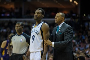 Grizzlies coach Lionel Hollins on Friday said although he admittedly didn't agree with the team trading Rudy Gay on Jan. 30, his primary focus is to get the most out of his current roster. (Photo by Justin Ford)
