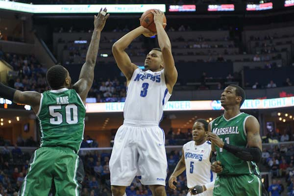 Chris Crawford long range shots have to return in order for Memphis to advance. Photo by Justine Ford.