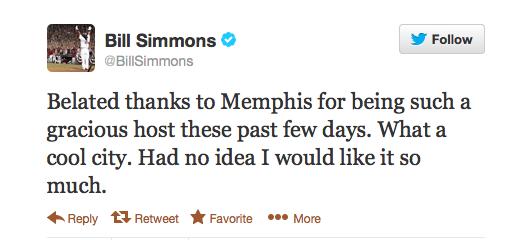 Simmons Memphis tweet