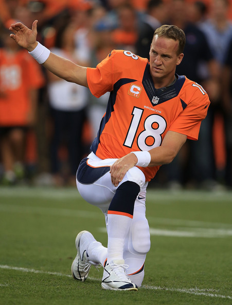 PEYTON'S PLACE --- Come Sunday, Broncos quarterback Peyton Manning, the NFL's Most Valuable Player, will try to avoid falling to 1-3 in Super Bowl appearances when Denver takes on Seattle. (Photo by Doug Pensinger)