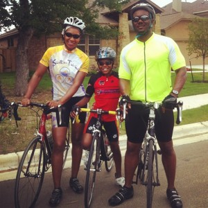 The Lees and their children, Jaylen, Justin, and Sanaa, have become fixtures in the triathalon in the Austin, Texas area.