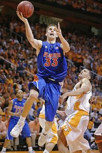Prior to entering the NBA ranks, Calathes, a two-time Florida Mr. Basketball, was a McDonald's All-American and starred at the University of Florida from 2007-2009. The top-ranked Gators will continue NCAA Tournament play in FedExForum Thursday night against UCLA. (AP Photo)