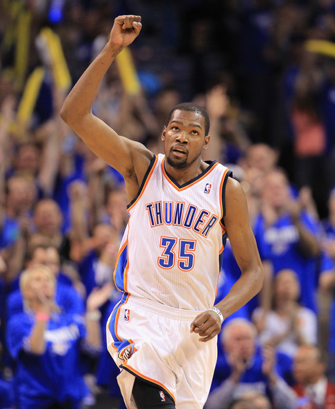 """NO R-E-S-P-E-C-T --- Memphis Grizzlies coach Dave Joerger on Thursday appeared disinterested in discussing Oklahoma City Thunder superstar Kevin Durant's MVP season. When asked if Durant is the frontrunner for the award, the rookie head coach replied, """"I don't care."""" (Photo by Ronald Martinez/Getty Images)"""