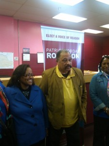 BIG WIGS --- Renowned judge Joe Brown was among those who have endorsed Robinson as she lobbies for the Shelby County Commission District 9 seat. (Photo by John Payne)