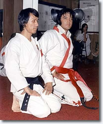 Yancey was taught martial arts by the legendary Kang Rhee (left), who is widely known for training Rock 'N Rock icon Elvis Presley in the early 1970s.