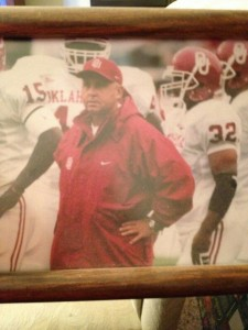 JOE COOL --- Joe Dicksinson, who served as an assistant to former Oklahoma legendary coach Barry Switzer in the mid-1980s, has trained a number of Mid-South-area quarterbacks during a football coaching career that spans nearly 30 years. (Photos submitted by Joe Dickinson0