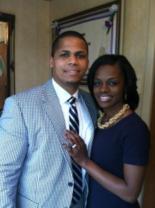 NEWLY WEDS --- Sean Williams, who married Christine Cane less than two years ago, has been her grandest supporter on her campaign trail.
