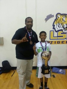 HIGH RISER --- Kylan Chandler, a former Memphis business owner, was granted custody of his son when he was five years old. This year, he has flown more than 10,000 miles to watch his son play AAU ball.