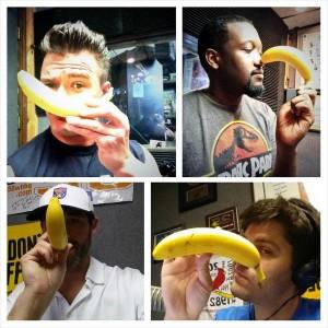 banana nose selfies