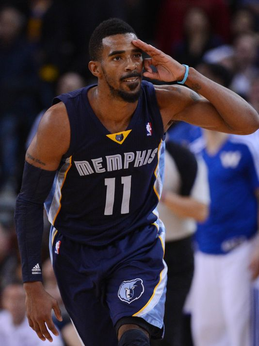 BOLD CONFESSION --- Memphis Grizzlies point guard Mike Conley doesn't shy away from the notion that he's aiming to make his first All-Star appearance in this, his seventh NBA season. Conley is Memphis' second-leading scorer, averaging 16.6 points per game. (Photo by Joe Murphy/NBAE Getty Images