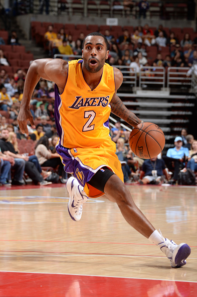 Former Memphis Grizzlies shooting guard Wayne Ellington rejoined the Lakers Thursday, less than two weeks after the death of his father November 9 in the Philadelphia. Wayne Ellington, Sr. was found in his car with a gunshot wound to the head by an unknown assailant. (Photo by  Juan O'Campo/NBAE via Getty Images)