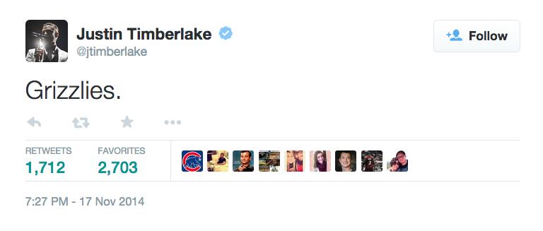 JT Grizzlies tweet