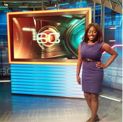 NATIONAL STAGE -- While Andrea Tucker, a native Memphian, admittedly had the time of her life in gaining professional broadcast journalism experience for the network known as the Worldwide Leader In Sports in 2013, among her biggest regrets, she said, is that she had never met longtime sportscaster and anchor Stuart Scott. (Photo submitted by A. Tucker)