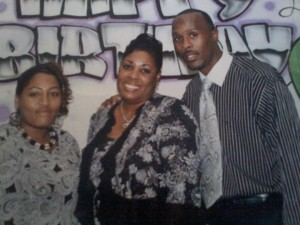 WE ARE FAMILY --- A mother of two, Betty Pegues' daughter, Tiffany Johnson (left), 39, is a 1994 graduate of Whitehaven High. Her son, Andre Johnson, 40, a 1993 Whitehaven High and 2000 graduate of the University of Memphis, resides in Dallas, Texas, where he is an NBA reporter.