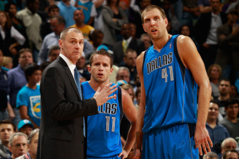 SOUTHWEST SUCCESS --- Dallas Mavericks coach Carlisle's most memorable campaign as an NBA coach came four years ago when he led Dirk Nowitzki and the Mavs to their first world championship in franchise history, a six-game upset of the Miami Heat in their best-of-7 NBA Finals series. That year, three teams from the NBA's Southwest Division (Dallas, San Antonio, and Memphis) had clinched playoff berths. This year, however, each of the division's five teams have advanced to the postseason, a feat that was effectively decided on the regular season's final day when the New Orleans Pelicans clinched a berth with a 108-103 win against the Spurs. (Joe Murphy/Getty Images Photo)