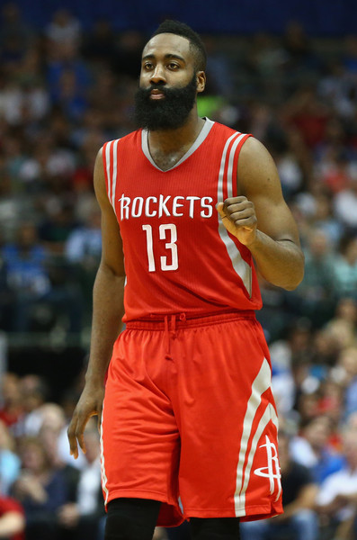 HOT HANDED HARDEN --- The Southwest Division champion Rockets (56-26) are led by NBA Most Valuable Player candidate James Harden, the league's second-leading scorer. Winners of three straight, the Rockets are in the postseason for a third consecutive year. (Photo by Ronald Martinez/Getty Images)