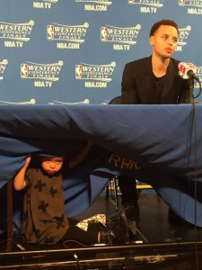 If, by chance, these reporters are routinely faced with stiff deadlines as they harshly suggested after Tuesday game, surely they shouldn't pin blame on Curry, much less blame the presence of his daughter who, to her credit, brought humor and life to what essentially was a boring, dead postgame news conference.