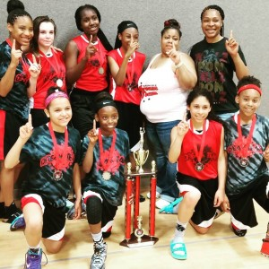STAR WATCH --- It is because of Khalayah Willis' assertiveness and willingness to contribute mightily for the Lady Dream Team 11-and-under AAU team that this squad has become a force on the amateur hoops circuit of late.  Willis is the catalyst of a Lady Dream Team squad that recently captured a fifth-and-sixth-grade group championship in San Antonio. (Photos submitted by K. Roberts)