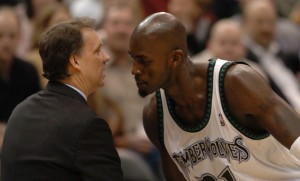 With the emergence of a young Kevin Garnett, Saunders guided Minnesota to its first-ever playoff berth in 1996-97, his first full season as an NBA head coach. The following year, he led the Timberwolves to their first-ever winning campaign, then helped propelled the team to a franchise-record 50 victories in 1999–2000, a feat they repeated two seasons later. (Getty Images Photos)