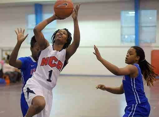 STOCK RISING --- Given the success National Christian Academy basketball standout Maya Calder has enjoyed since coming to the United States from Kingston, Jamaica some seven years ago, the possibility exist that this hoops prodigy appears well on her way to putting her immense skills on display at the collegiate level. (Photo by Getty Images)