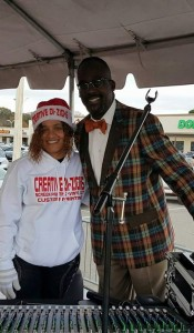 THE ROLL CALL --- Creative Di-Zigns owner Melony Walker poses with Memphis renowned Memphis radio personality Stan Bell.