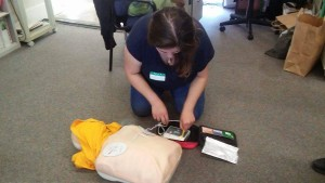 """MAKING PROGRESS --- So that Red Heart CPR can better strive to save lives, Hamilton has launched an initiative called """"Life Matters,"""" a movement whereby she dauntlessly poses the question, """"Are you CPR Certified?"""""""