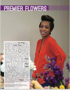 FINDING HER NICHE --- A Memphis Trezevant High and University of Memphis graduate, Colby Midgett is in her second year as owner of Premier Flowers, but had been involved in floriculture and gardening for eight years and counting. To her credit, her immense track record has been nothing short of impressive.